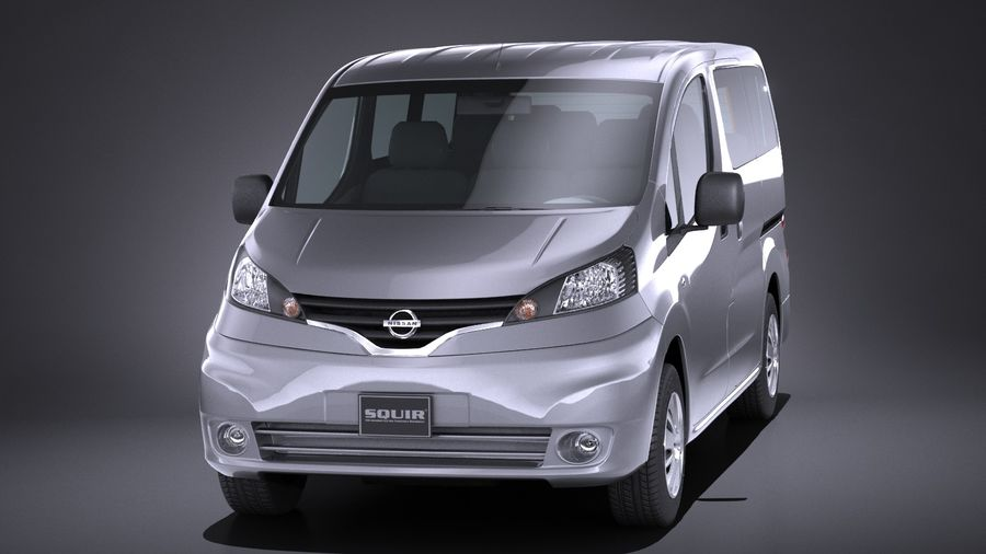 Nissan NV200 2010-2018 royalty-free 3d model - Preview no. 2