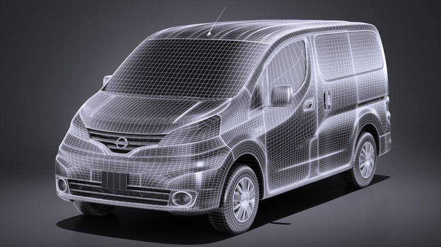 Nissan NV200 2010-2018 royalty-free 3d model - Preview no. 13