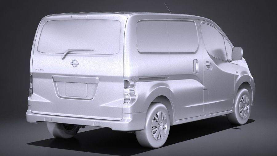 Nissan NV200 2010-2018 royalty-free 3d model - Preview no. 12