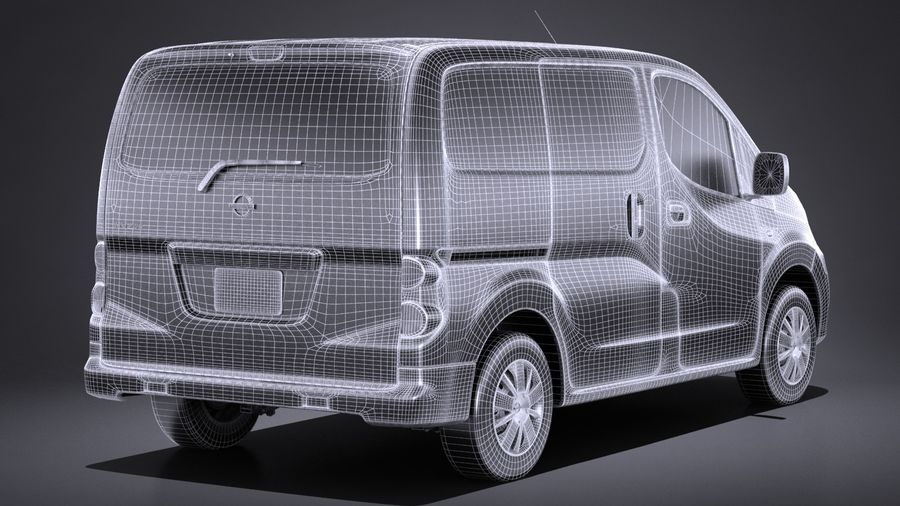 Nissan NV200 2010-2018 royalty-free 3d model - Preview no. 16
