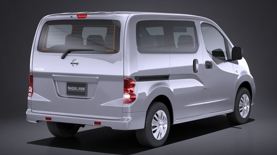 Nissan NV200 2010-2018 royalty-free 3d model - Preview no. 6