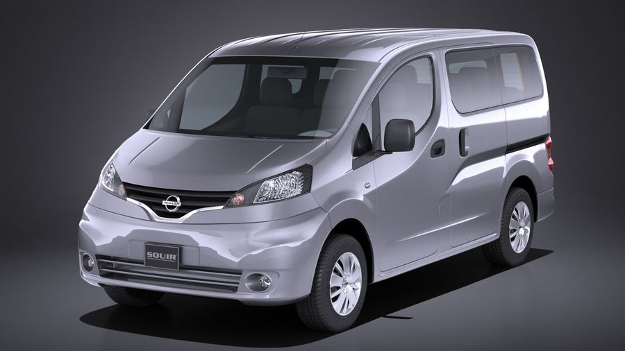 Nissan NV200 2010-2018 royalty-free 3d model - Preview no. 1