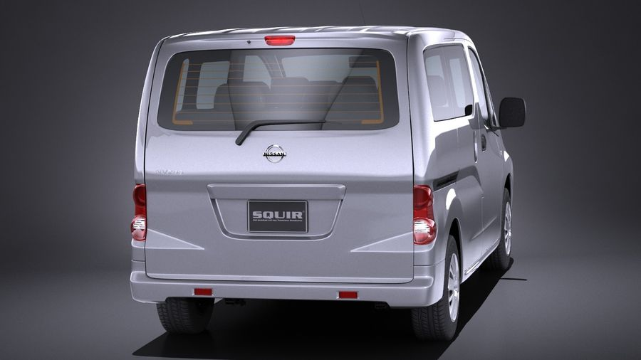Nissan NV200 2010-2018 royalty-free 3d model - Preview no. 5