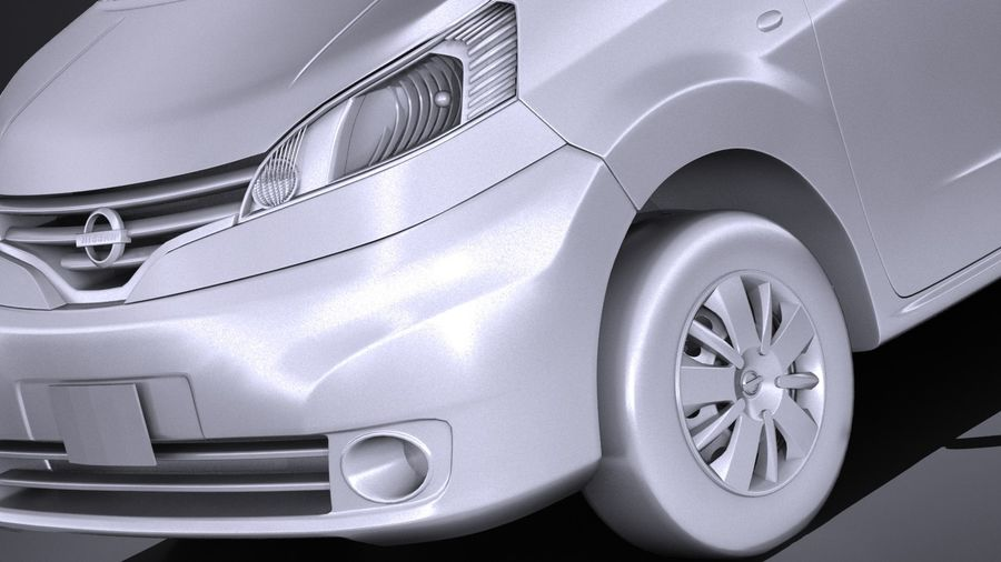 Nissan NV200 2010-2018 royalty-free 3d model - Preview no. 10