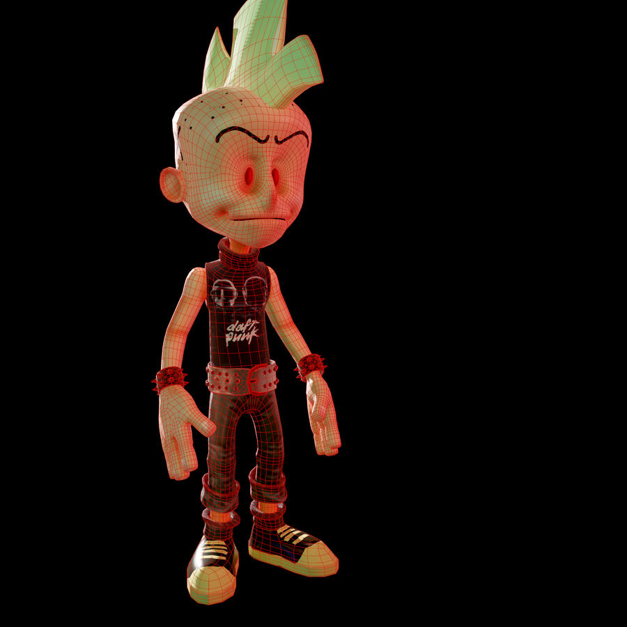 Cartoon Character royalty-free 3d model - Preview no. 5