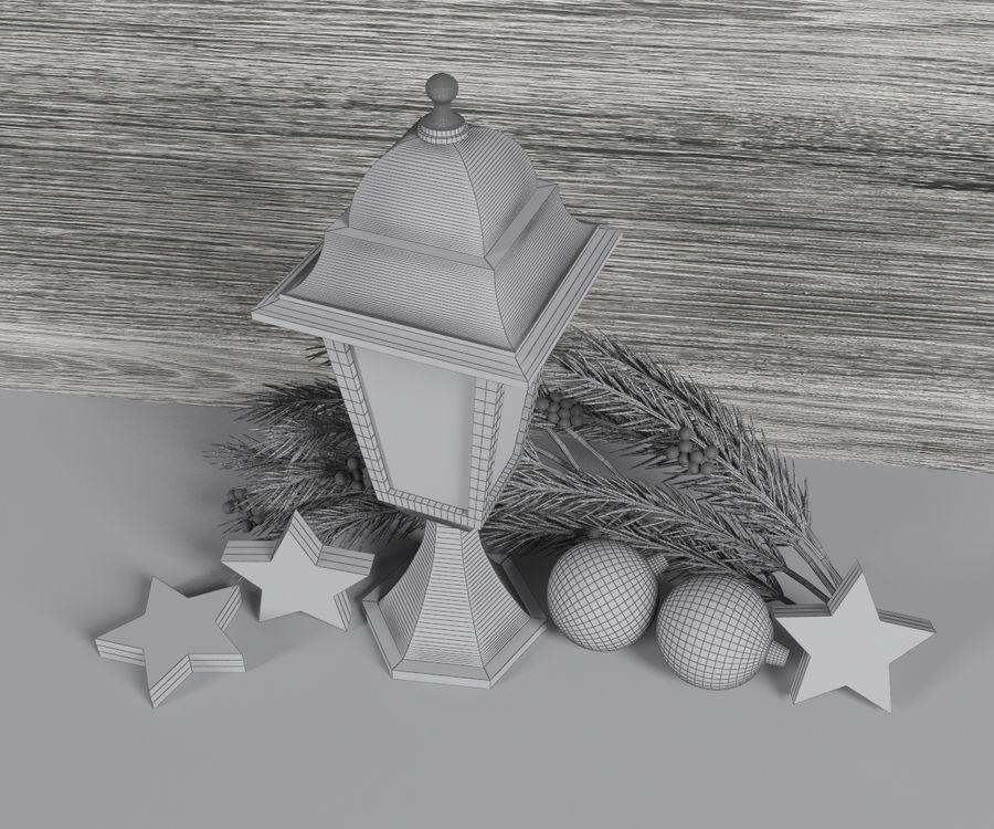 Lanterne de noël royalty-free 3d model - Preview no. 6