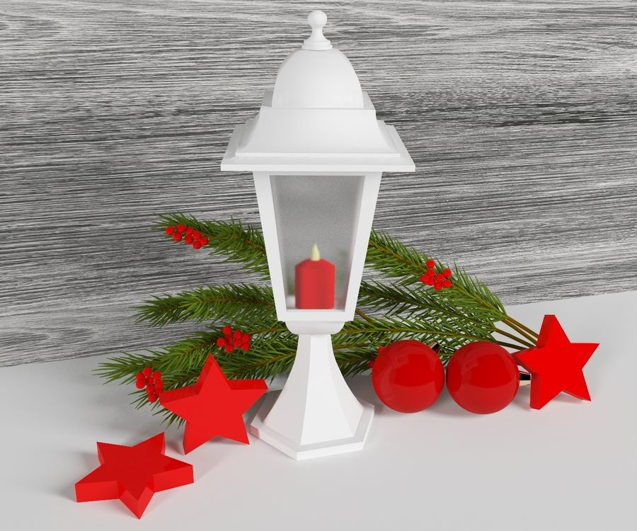 Lanterne de noël royalty-free 3d model - Preview no. 2