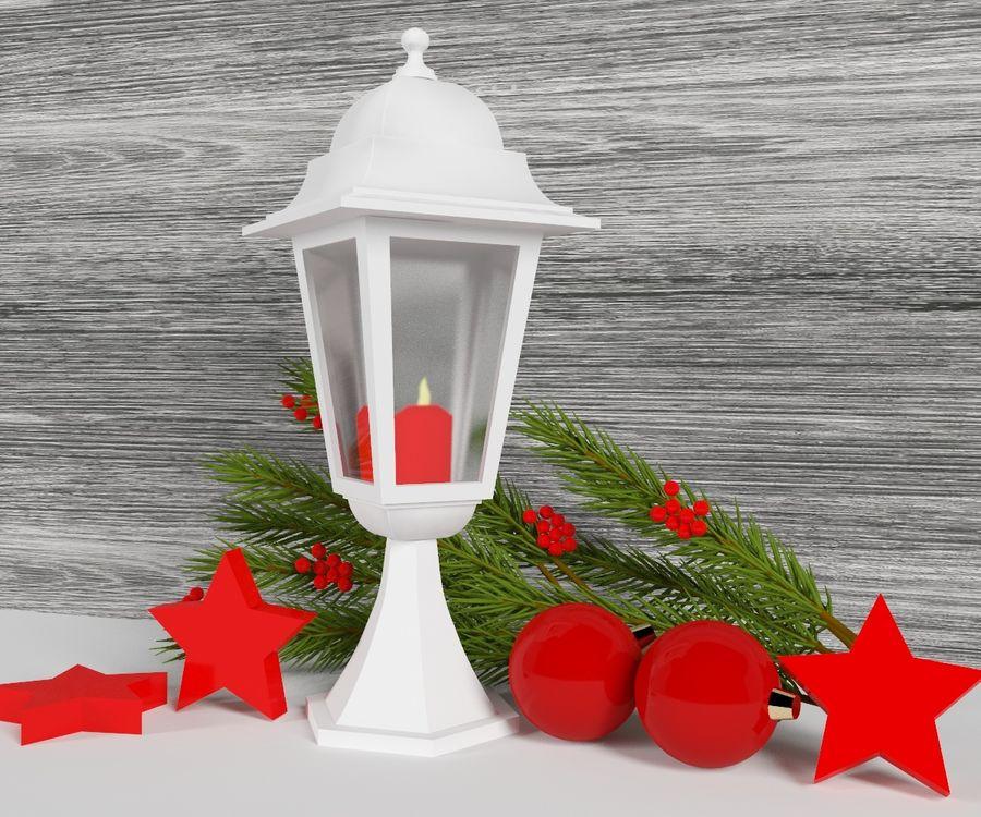 Lanterne de noël royalty-free 3d model - Preview no. 1
