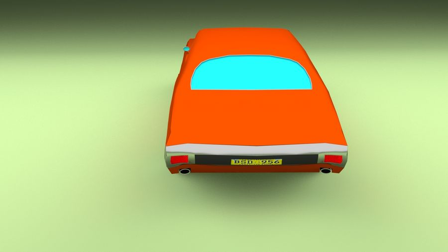 Simple Muscle Car royalty-free 3d model - Preview no. 5