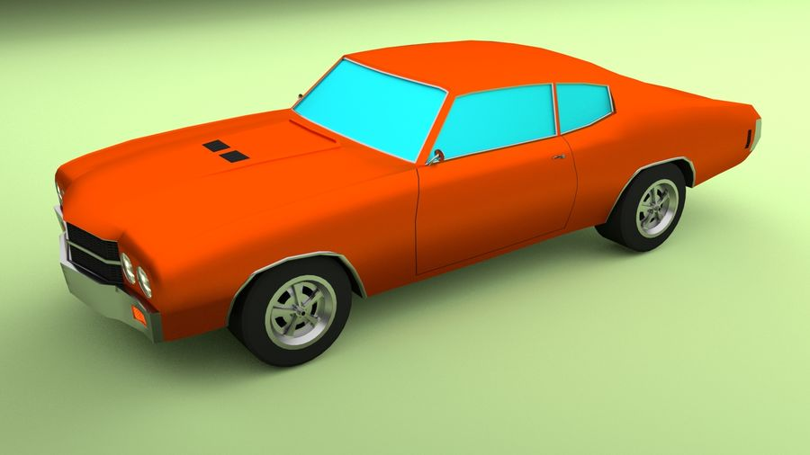 Simple Muscle Car royalty-free 3d model - Preview no. 1