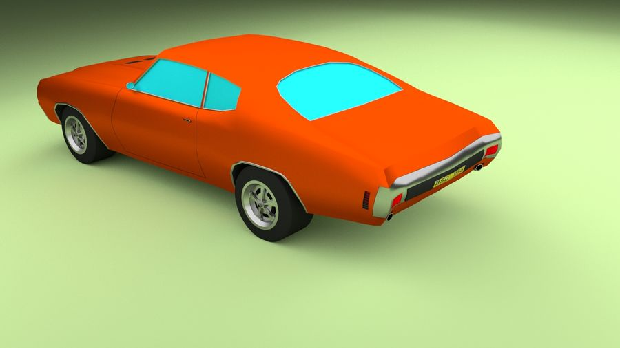 Simple Muscle Car royalty-free 3d model - Preview no. 4
