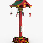 Asian Lamp Column 3d model