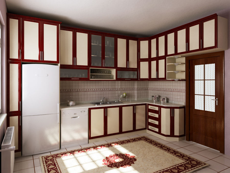 Kitchen-3 royalty-free 3d model - Preview no. 1
