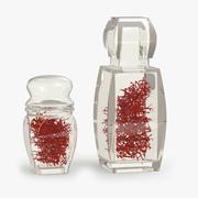 Linda garrafa de cristal com açafrão 3d model