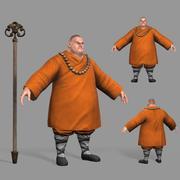Monge budista 3d model
