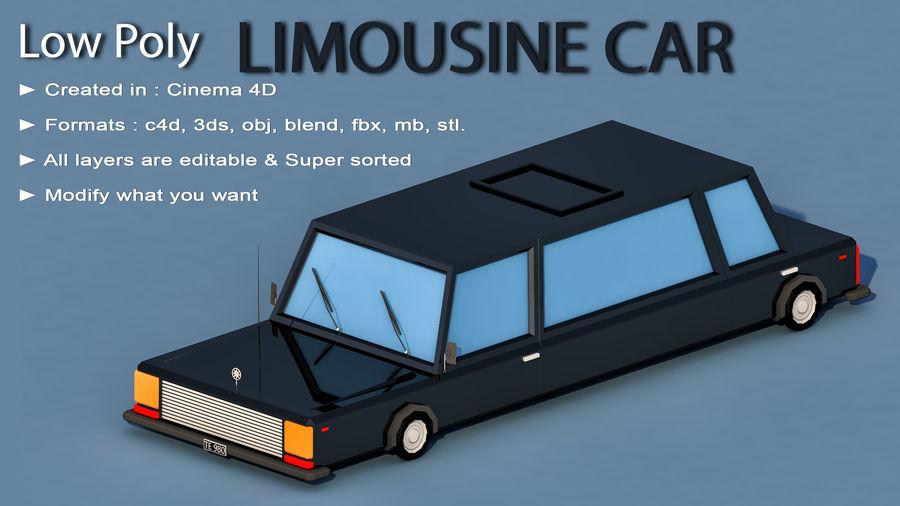 Coche de limusina de dibujos animados royalty-free modelo 3d - Preview no. 2