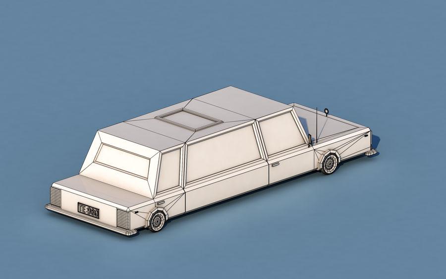 Coche de limusina de dibujos animados royalty-free modelo 3d - Preview no. 5