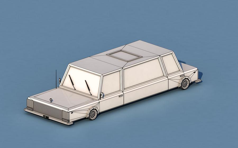 Coche de limusina de dibujos animados royalty-free modelo 3d - Preview no. 3