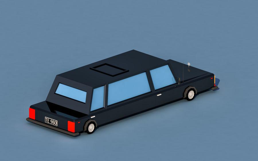 Coche de limusina de dibujos animados royalty-free modelo 3d - Preview no. 4