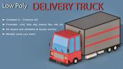 Cartoon Delivery Truck 3d model