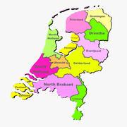 네덜란드 지방지도 3d model