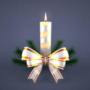 Candela Di Natale In Argento 3d model