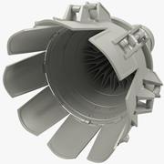 Motor a reacción modelo 3d