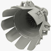 Jet motoru 3d model