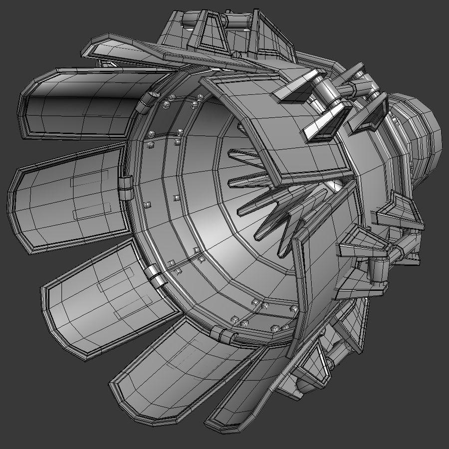 제트 엔진 royalty-free 3d model - Preview no. 8