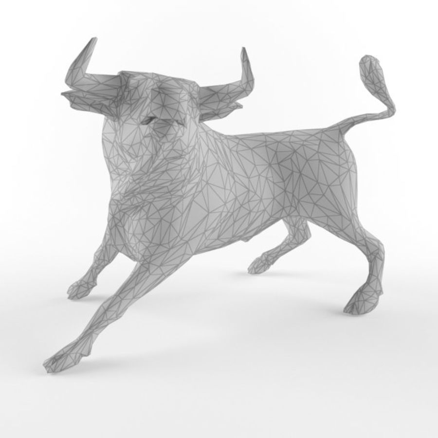 Low Poly Bull Taurus Animal Lowpoly 2 Model Low-poly 3D royalty-free 3d model - Preview no. 1