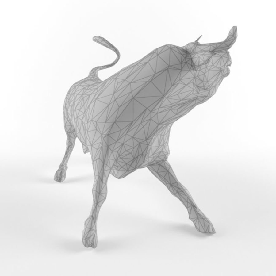 Low Poly Bull Taurus Animal Lowpoly 2 Model Low-poly 3D royalty-free 3d model - Preview no. 4
