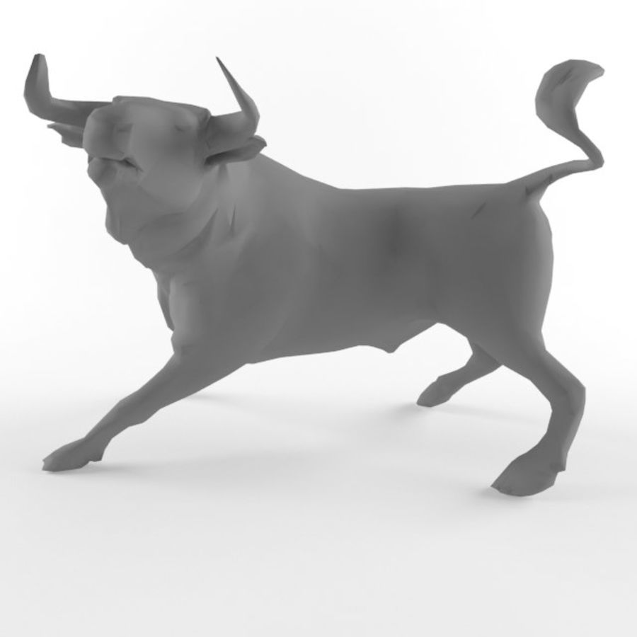Low Poly Bull Taurus Animal Lowpoly 2 Model Low-poly 3D royalty-free 3d model - Preview no. 5