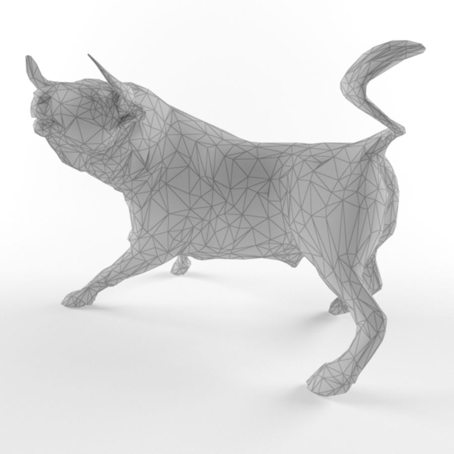 Low Poly Bull Taurus Animal Lowpoly 2 Model Low-poly 3D royalty-free 3d model - Preview no. 2