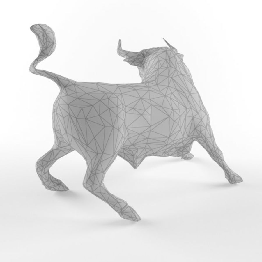 Low Poly Bull Taurus Animal Lowpoly 2 Model Low-poly 3D royalty-free 3d model - Preview no. 3