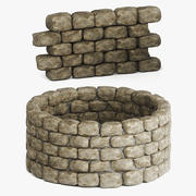 Stone Wall Seamless 3d model