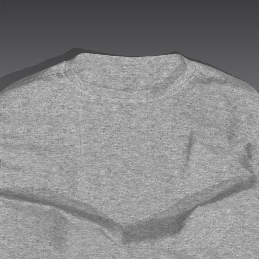 T-shirt płaski royalty-free 3d model - Preview no. 2