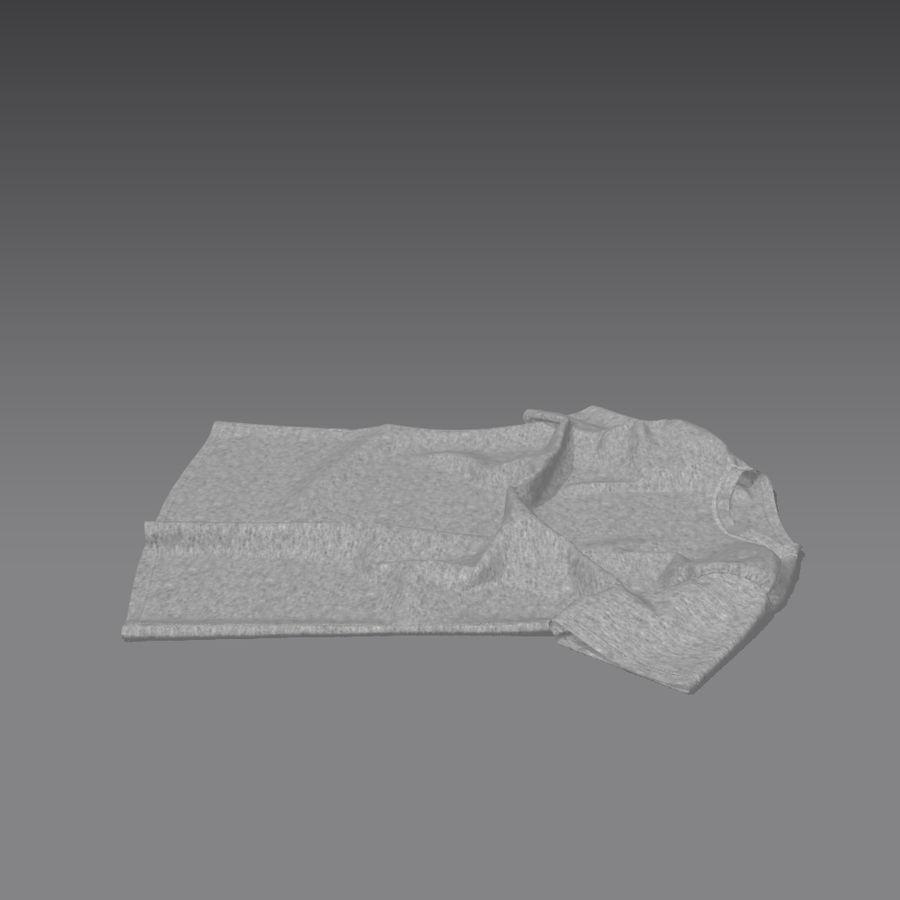 T-shirt płaski royalty-free 3d model - Preview no. 4