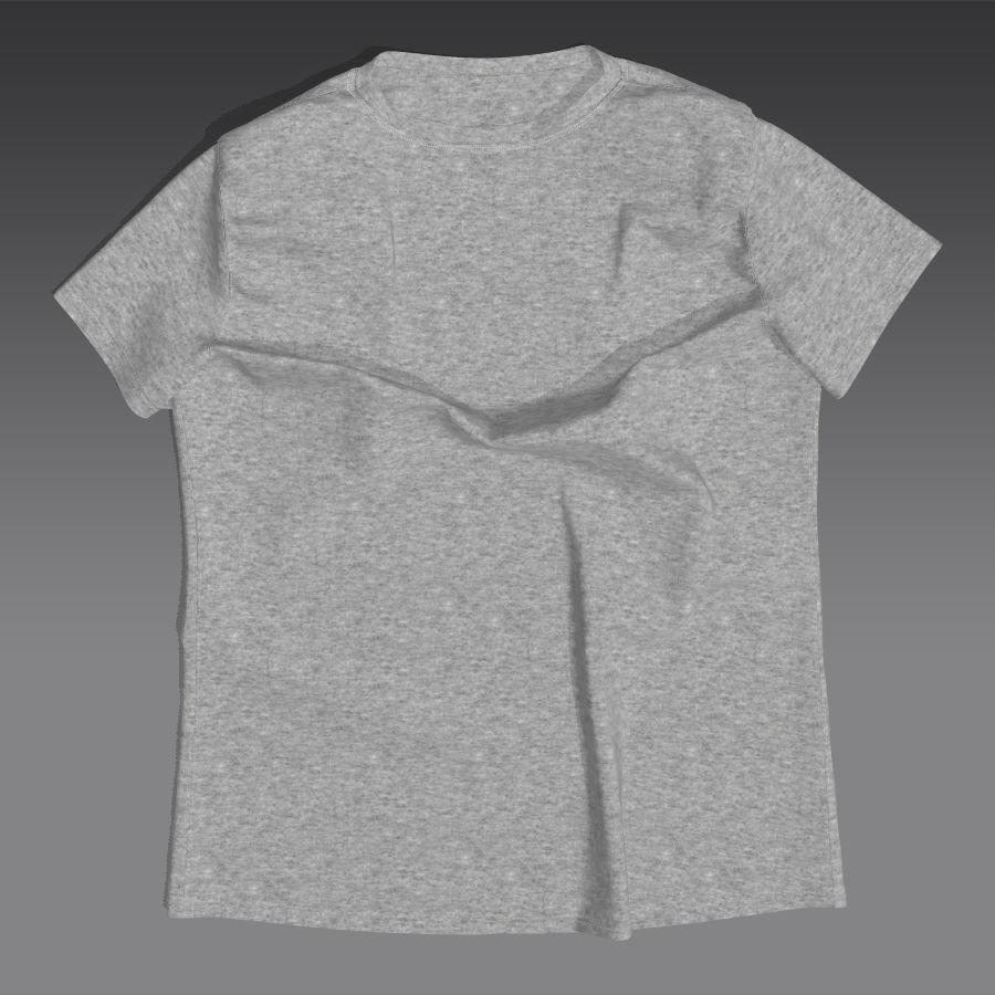 T-shirt płaski royalty-free 3d model - Preview no. 1