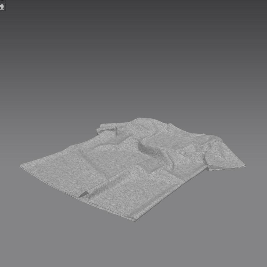 T-shirt płaski royalty-free 3d model - Preview no. 5