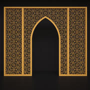 Arch with ornament with persian style 3d model