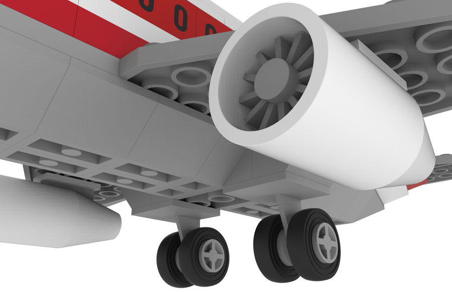 lego jet uçağı royalty-free 3d model - Preview no. 16
