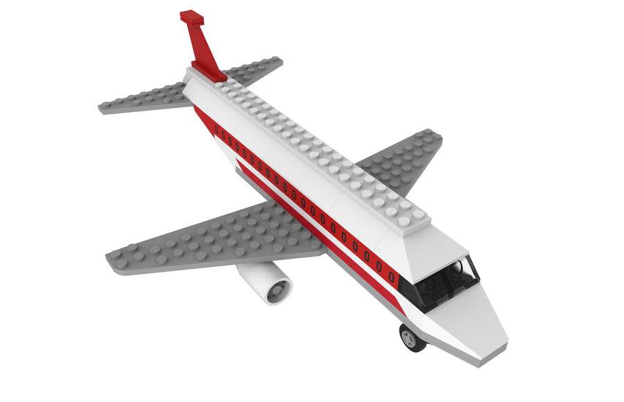 lego jet uçağı royalty-free 3d model - Preview no. 14