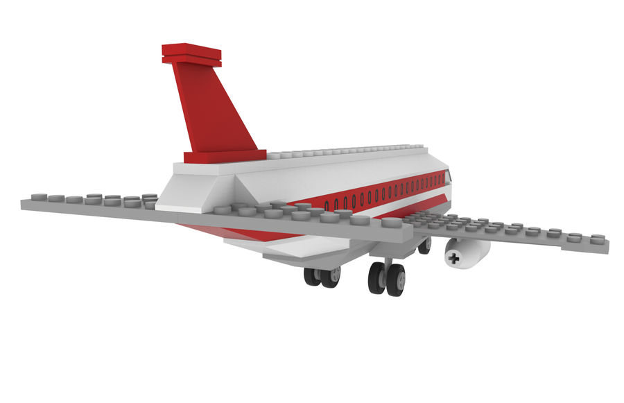 lego jet uçağı royalty-free 3d model - Preview no. 7