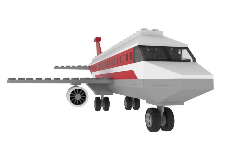 lego jet uçağı royalty-free 3d model - Preview no. 1