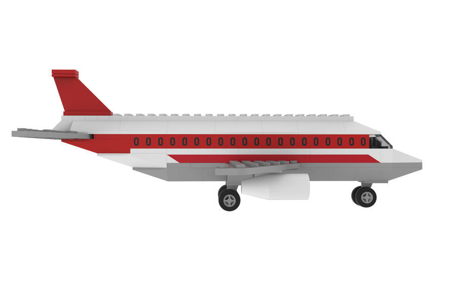 lego jet uçağı royalty-free 3d model - Preview no. 9