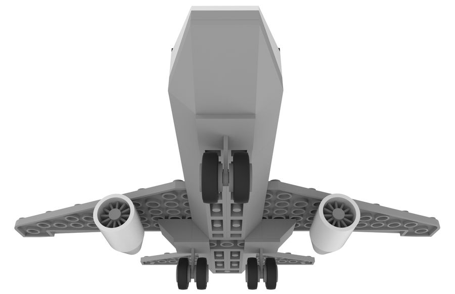 lego jet uçağı royalty-free 3d model - Preview no. 15