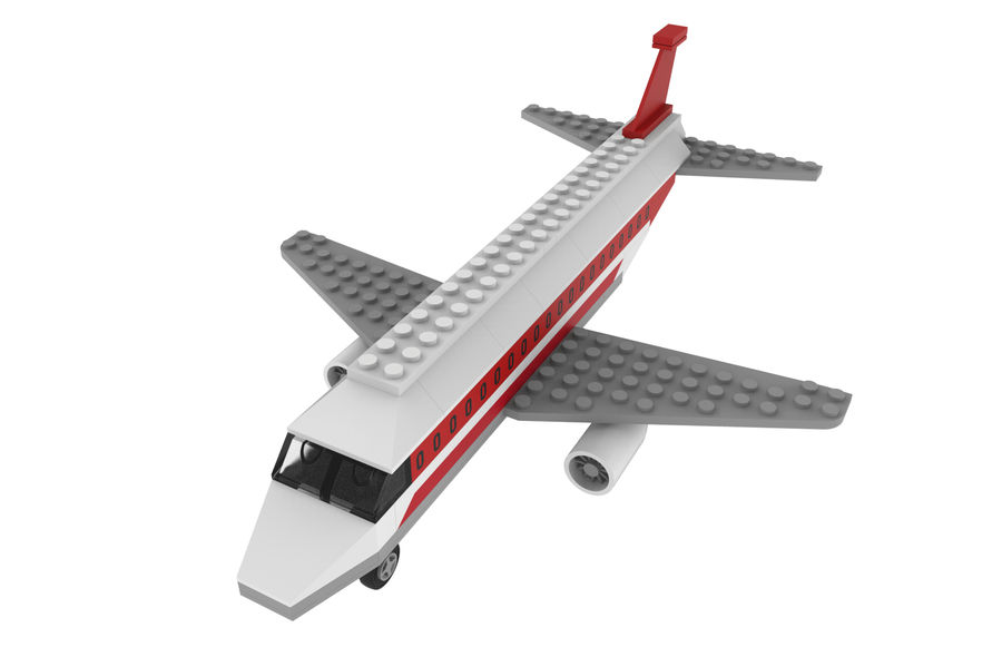 lego jet uçağı royalty-free 3d model - Preview no. 13