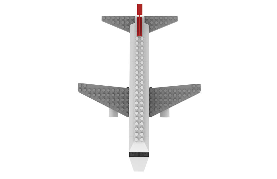 lego jet uçağı royalty-free 3d model - Preview no. 12