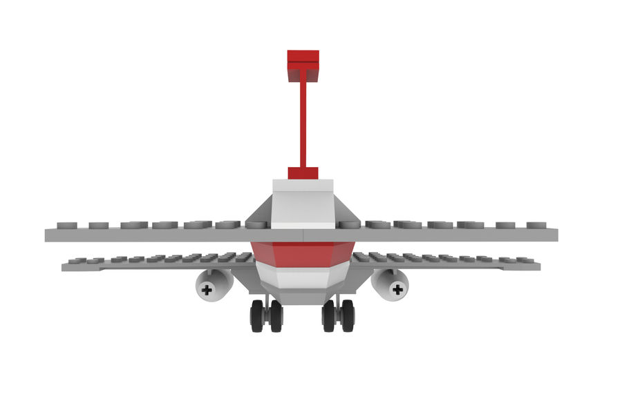lego jet uçağı royalty-free 3d model - Preview no. 6