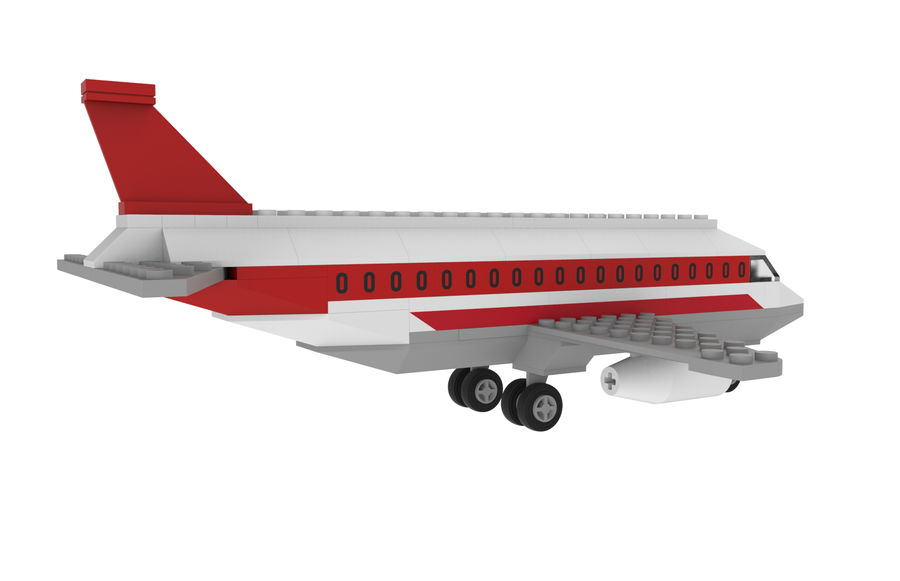 lego jet uçağı royalty-free 3d model - Preview no. 8